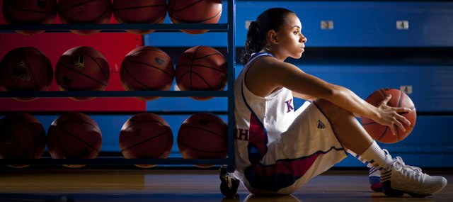 Senior point guard Angel Goodrich has come a long way to lead the Jayhawks despite being sidelined by injury throughout stretches of her career.
