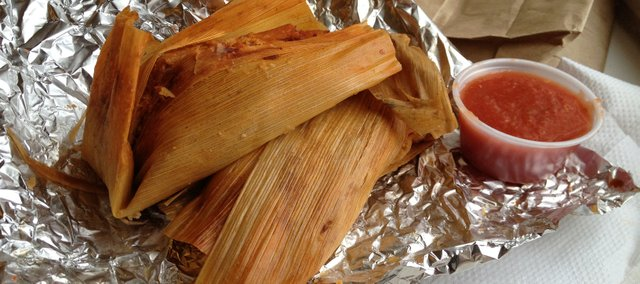 Tamales from Burrito King, 900 Illinois St.