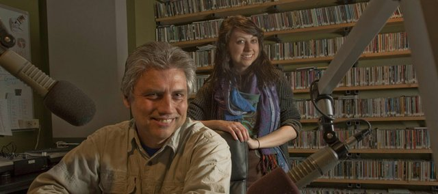 Pete Barrett and his daughter Katie Barrett, a KU junior and DJ at KJHK,  have teamed up to broadcast songs from a playlist Pete prepared during his days as a college DJ about 35 years ago.  