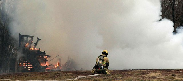 Fire crews faced difficulty bringing sufficient water to a barn fire east of Clinton Lake on the west side of U.S. Highway 59 Thursday. Fire crews from Lawrence and several rural townships responded about 9:15 a.m. on Jan. 10.