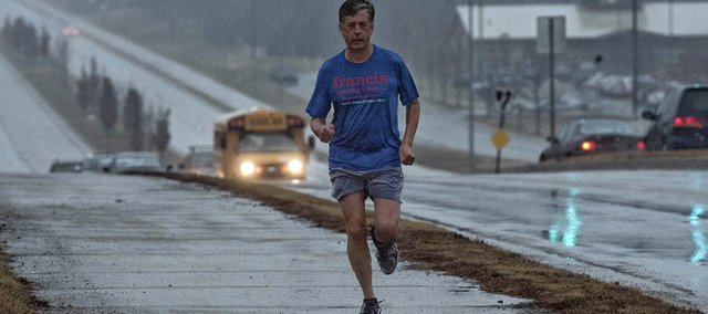 The Rev. Nate Rovenstine spent virtually all of last year running every street in Lawrence. As he ran, he prayed for the people in the neighborhoods he was traversing.