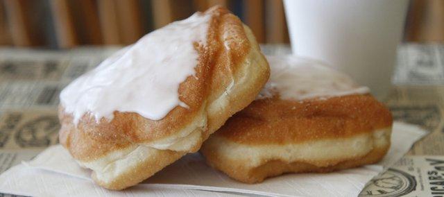Cream Cheese Doughnuts at Munchers Bakery, 925 S. Iowa St., Suite M.