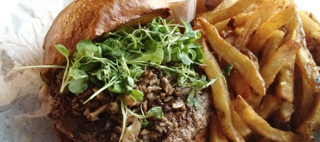 The Wellington Kobe Burger at Dempsey's Burger Pub, 623 Vermont St.
