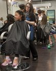 Nineteen young ladies from the Boys and Girls Club of Lawrence received a day of pampering from Marinello Schools of Beauty's Lawrence campus on Wednesday.