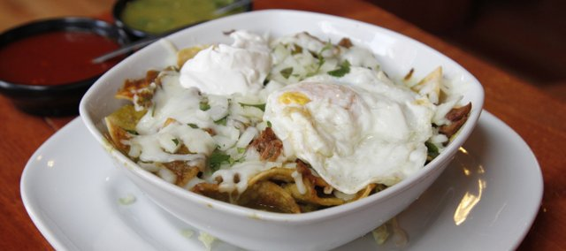 Chilaquiles at Mexquisito, 712 Massachusetts St.