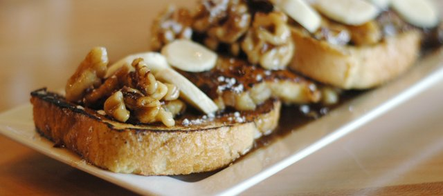 Angel Food French Toast at Five Bar and Tables, 947 Massachusetts St.