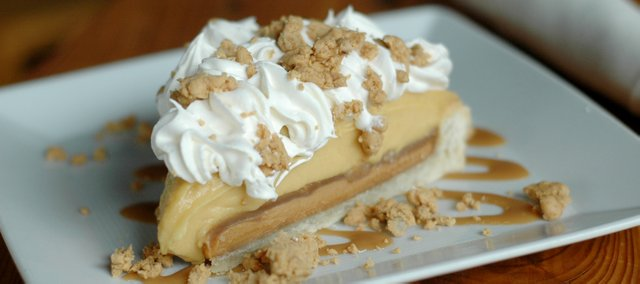 Peanut Butter Pie at Intorno, 801 Massachusetts St.