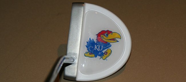 Kansas University is among the schools that have licensed Roger Twibell's logoputter.com to sell putters with their logos