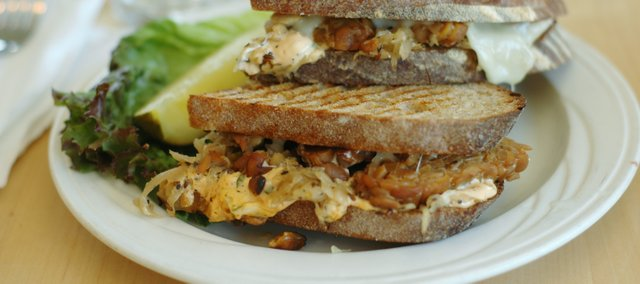 The Vegetarian Reuben at WheatFields Bakery Café, 904 Vermont St.