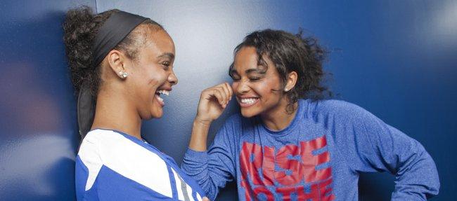 Twin sisters Dakota, left, and Dylan Gonzalez will be freshmen members of the 2013-14 Kansas University women's basketball team.