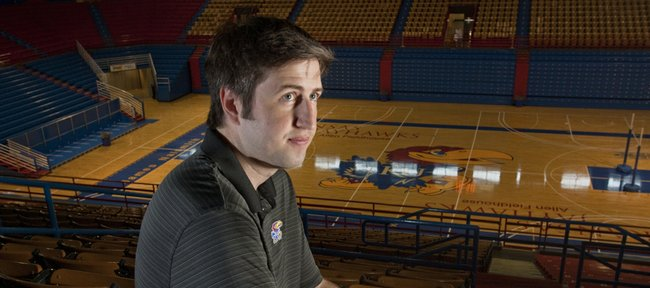 Jeff Forbes, Kansas University's video coordinator, helps KU players and coaches use technology recruit, study and analyze the game.
