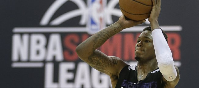 Sacramento Kings rookie Ben McLemore shoots against the Dallas Mavericks in the third quarter of an NBA Summer League game, Saturday in Las Vegas.