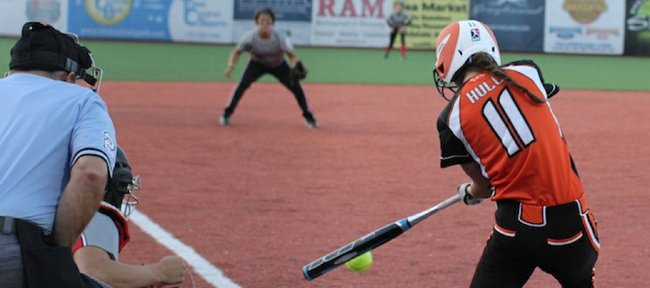 In her first season with the Chicago Bandits of National Professional Fastpitch, Maggie Hull-Tietz is hitting .250 with appearances in 20 — or about half — of the league-leading Bandits' games.