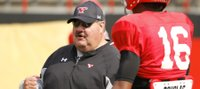 Ex-KU coach Mark Mangino building happy, healthy life at alma mater