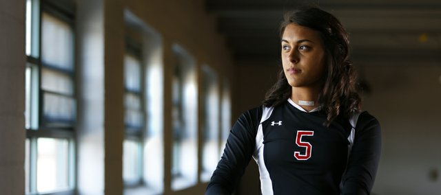Lawrence High senior Caitlin Broadwell was sidelined from sports for seven months after being diagnosed with an overactive thyroid and Graves' disease. Broadwell returned to practice on Monday and plans to play in her first game back on Thursday.