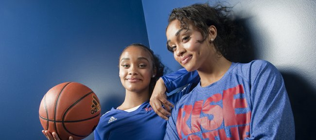 Twin sisters Dakota, left, and Dylan Gonzalez will be freshmen members of the 2013-14 Kansas University women's basketball team.