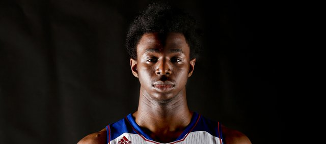 Kansas freshman forward Andrew Wiggins. Nick Krug/Journal-World Photo
