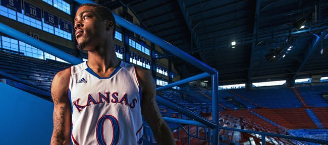 "Kansas University freshman point guard Frank Mason will be asked to lead KU on the court in its season opener tonight against Louisiana at Monroe. Mason, starting in place of suspended junior Naadir Tharpe, says he's been ""confident from Day 1."""