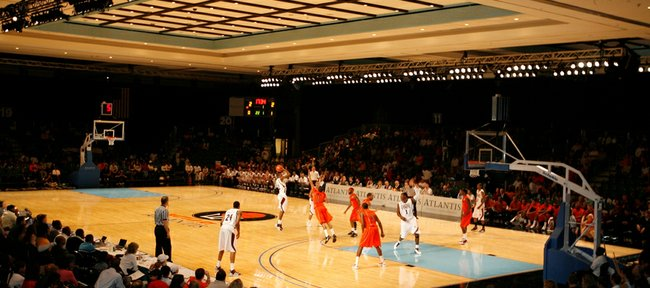 In a photo provided by Atlantis, Paradise Island, Virginia Tech and Mississippi State play Dec. 18, 2010, during the Battle at Atlantis in Paradise Island, Bahamas.
