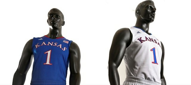Kansas University and adidas unveiled new Made in March uniforms for the men's basketball team on Thursday.