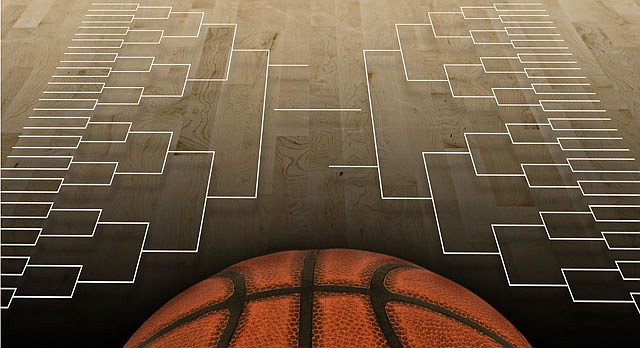 Shutterstock image of basketball brackets
