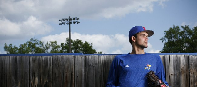 Kansas University freshman closer Stephen Villines is filling one of the game's most important roles for the Jayhawks, despite inheriting it just a few months after receiving his first Div. I scholarship offer.