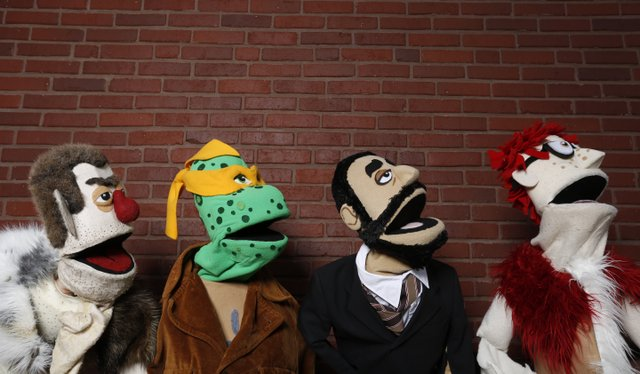 From left: Ug, Michelangelo, Paul and Norman are part of The Felt Show. Doors open at 8 p.m. at The Bottleneck.