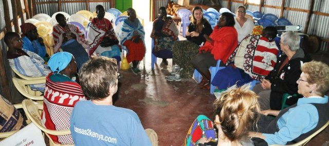 Members of Kansas to Kenya visit a women's conference in Kenya this month.