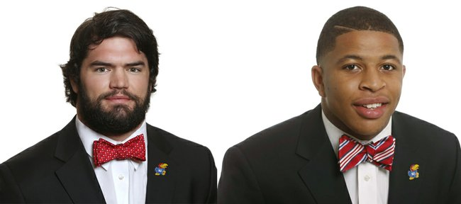 Ben Heeney, left, and Kyron Watson