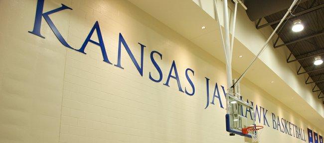 The Kansas University basketball practice facility at Allen Fieldhouse.