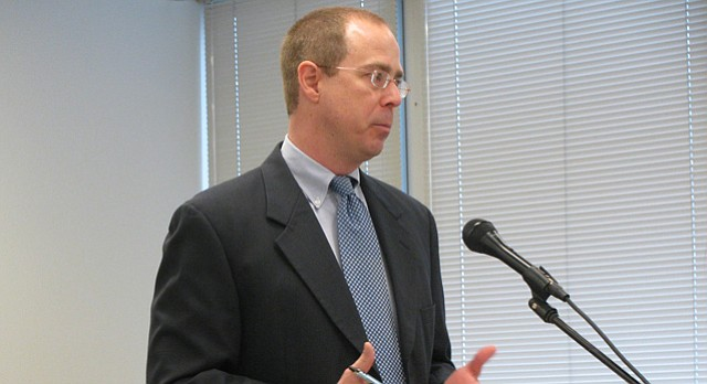 Art Hall, director of the Center for Applied Economics at Kansas University, testifies to the House Tax Committee in this file photo from January 2010.