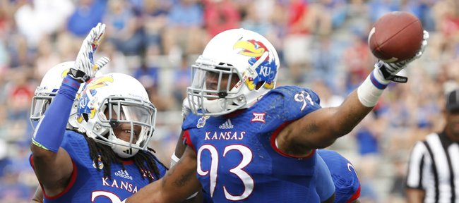 Kansas University's Ben Goodman (93) is one of 25 Jayhawks from Texas who will take on the Longhorns on Saturday at Memorial Stadium.