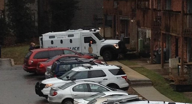 Lawrence Police, Accompanied By The Departmentu0027s Armored