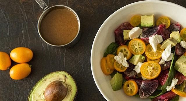 Kumquats and Blood Orange Winter Salad