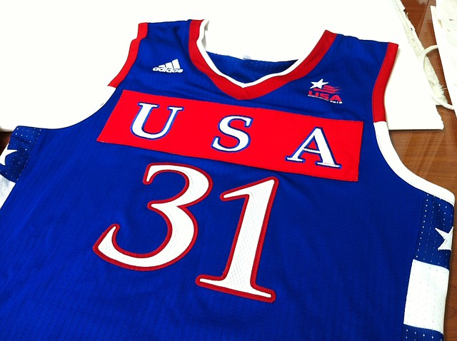 The Jayhawks will debut new uniforms for Sunday's game against Brazil. FIBA officials asked the USA head of delegation to place USA larger on its jerseys.