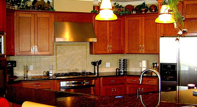 Lighting is one way to update your kitchen's look without spending a lot of money.