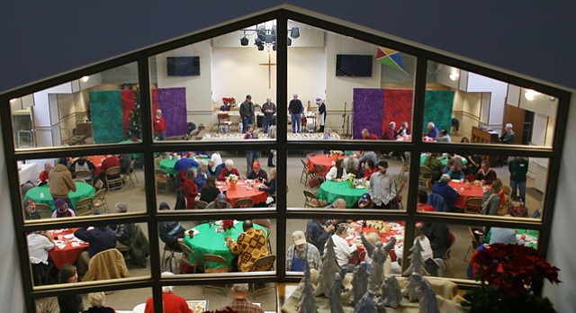 Lawrence's annual Community Christmas Dinner is pictured Dec. 25, 2015 at First United Methodist Church, 946 Vermont St.