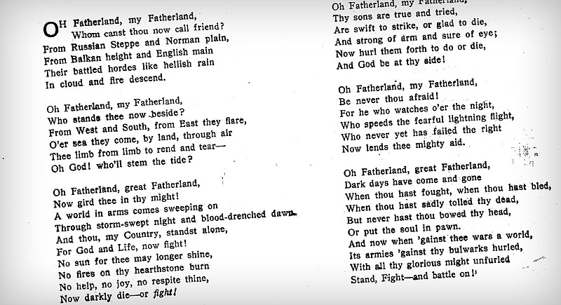 poems of wwi First world war poetry was this extraordinary literary and cultural phenomenon, during which war poetry as a self-conscious, independent genre emerged poetry has always been interested in war, but what distinguished first world war poetry are two things first, the extraordinary amount of poetry that's been written at this time.