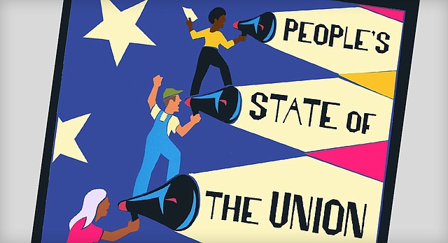 Promotional poster for the 2016 People's State of the Union, which will be held by the Lawrence branch of the U.S. Department of Arts and Culture, Sunday, Jan. 31 at Lawrence Public Library.