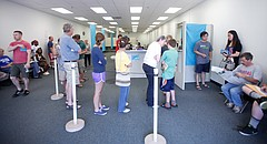 This file photo shows the Department of Motor Vehicles office in Lawrence on Wednesday, June 27, 2012.