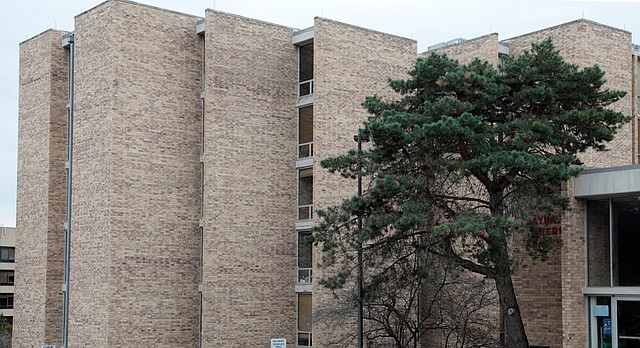 The Jayhawker Towers on the Kansas University campus are pictured on Thursday, Nov. 9, 2010.