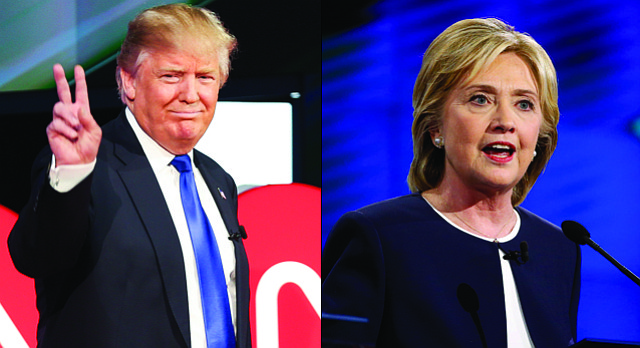 Republican Donald Trump and Democrat Hillary Clinton are leading their respective rivals among Kansas voters, according to a new survey by Fort Hays State University.