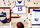 "Kansas University's new white ""Made in March"" uniform, by adidas."