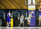 Haskell sophomore Tyler Sumpter shoots a three during a practice on Friday, March 4, 2016. With a season record of 23-6, the team is preparing for 2016 NAIA Division II championship tournament.