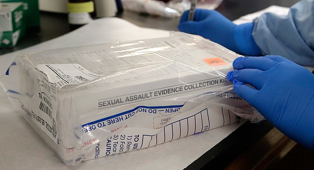 A sexual assault evidence kit is logged in the biology lab at the Houston Forensic Science Center in Houston in this file photo from Thursday, April 2, 2015. (AP Photo/Pat Sullivan)