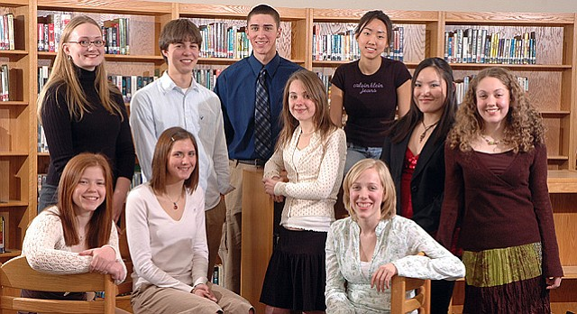 ... Where are they now? 2006 Area Academic All-Stars, from left, are Carly Sakumura, Lawrence High