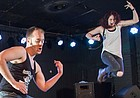 Lawrence's first official air guitar competition is a family affair