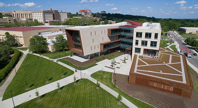 The new Kansas University School of Business, Capitol Federal Hall is pictured Tuesday, May 10, 2016.