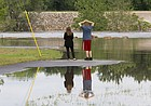 Clinton Lake facilities mostly under water for holiday weekend, but campers still welcome; some city parks closed