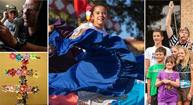 Weekend Guide for June 24, 2016: Clockwise from top left, AARL Field Day; St. John's Mexican Fiesta; Free State Festival's Family Fun Fest; an assortment of dog bows created by a 2015 Summer Fest vendor.